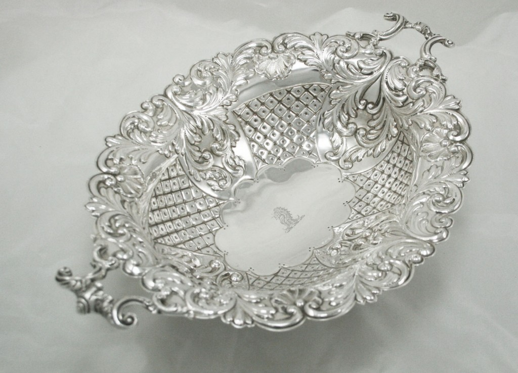 Antique Silver Dish Hallmarks London 1892