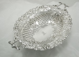 Dish Comport Bowl In Antique & Modern Silver For Sale With Free UK Postage 2