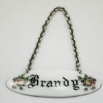 Brandy Decanter Label Silver & Enamel