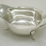 Silver Sauce Boat Hallmarks London 1935 By Viners