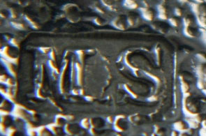 English Silver Makers Marks Beginning With The Letter M martin-sugar-silver-makers-mark