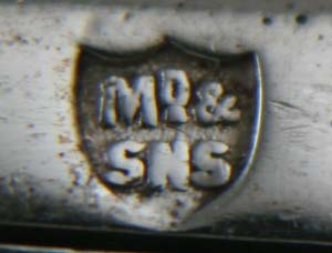 English Silver Makers Marks Beginning With The Letter M maxfield-and-sons-silversmith-silver-maker-mark