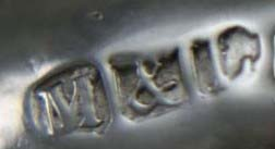 English Silver Makers Marks Beginning With The Letter M minshull-latimer-silversmiths